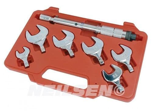7pc 17 - 29mm Torque Wrench Car Truck Force Driver Nut Bolt Spanner Set