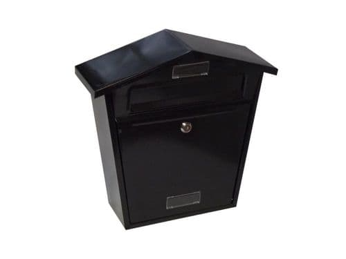 Black Lockable Outside Letterbox Letter Post Mail Box Postbox With Fixing Kit