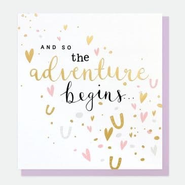 'And So the Adventure Begins' Gorgeous Wedding Greeting Card