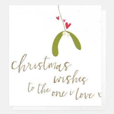 'Christmas Wishes to the One I Love'  Simply Cute Caroline Gardner Greeting Card