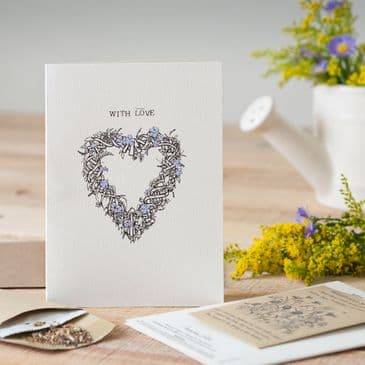 'With Love' Gorgeous & Different Greeting Card comes with a packet of Wildflower Seeds