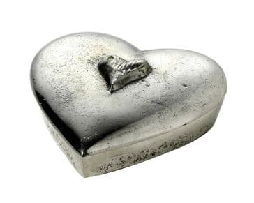Gorgeous Heart Shaped Lidded Trinket Box with Heart detailing