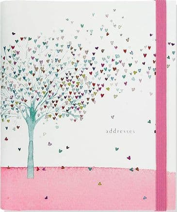 Gorgeous 'Tree of Hearts' Large Address Book