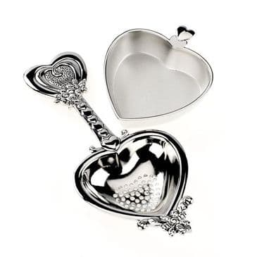 Just Lovely! Heart Shaped Tea Strainer & Stand