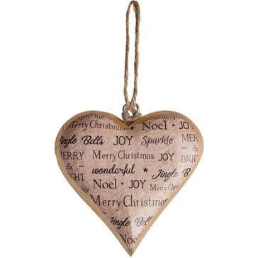 Lovely 'Christmas Wishes' Wooden Hanging Heart