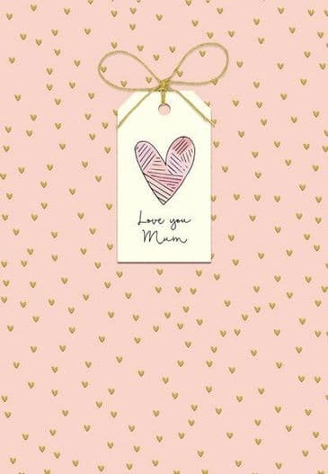 Really Cute Card for Mum with text 'Love You' Mum