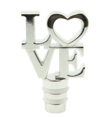 Romantic Bottle Stopper - with LOVE text
