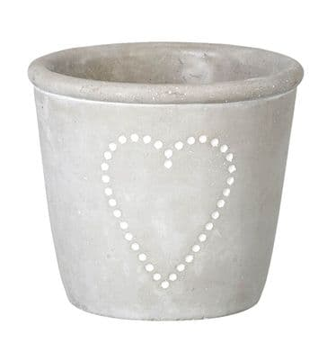 Rustic Planter with Heart Design - Medium Sized - Simply Fab!