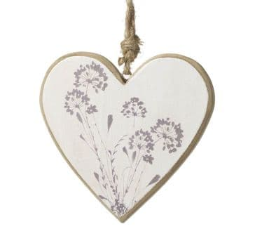 Simply Lovely - Cow Parsley Hanging Heart Ornament