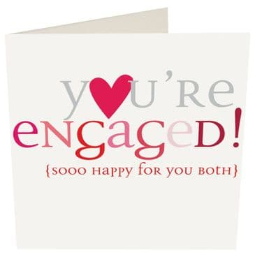 You're Engaged! Sooo Happy For You Both - Caroline Gardner Card with Heart