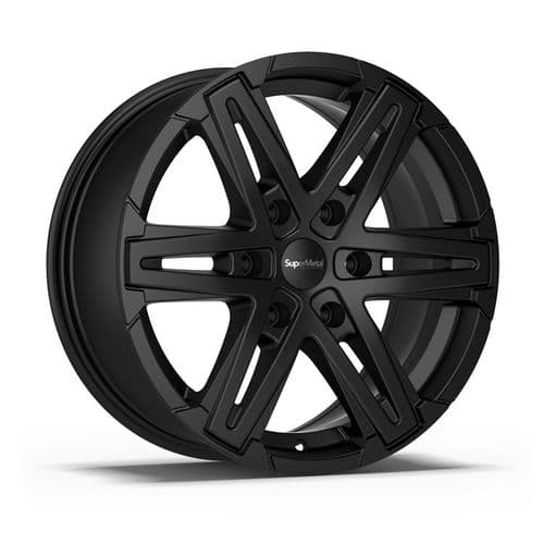 "18"" SuperMetal Compass Matt Black Alloy Wheels"