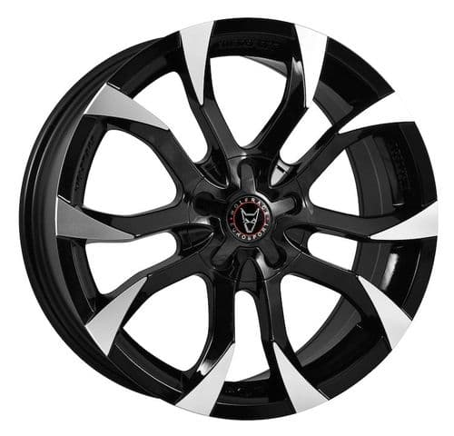 "18"" Wolfrace Eurosport Assassin Gloss Black Polished Alloy Wheels"