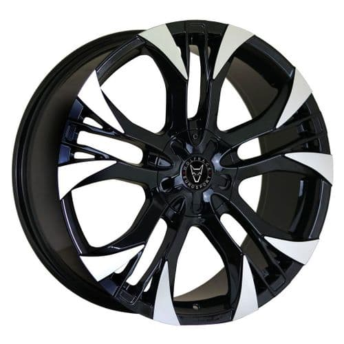 "18"" Wolfrace Eurosport Assassin GT2 Gloss Black Polished Alloy Wheels"