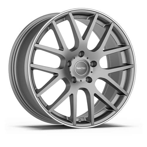 "20"" SuperMetal Trident Matt Grey Polished Rim"