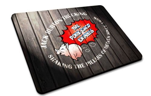 John Carpenter Big Trouble In Little China  Pork Chop Express  Logo Mouse Mat