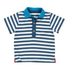 Kite Polo Shirt Baby Boy stripy french navy