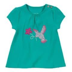 Kite Tunic Baby Girl-Floral Bird Jade