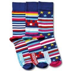United Oddsocks George  - pack of 3 men's odd socks (not pairs).