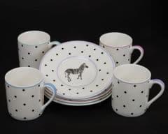 Bombay Duck Zebra Spotty Espresso cups set of four