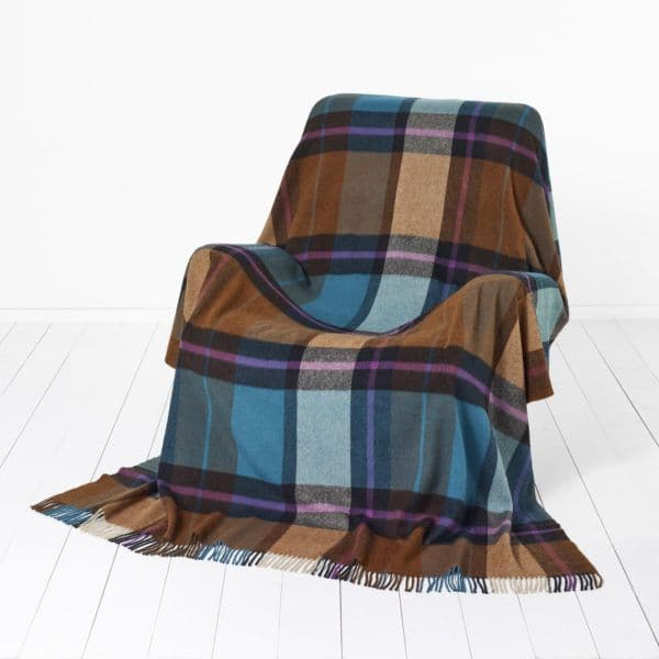 Bronte by Moon Merino Lambswool Throw Madison Check