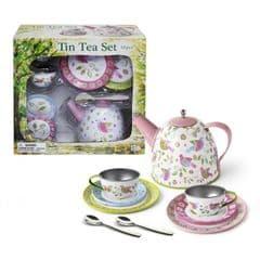 Imagetoys Tin Tea Set birds design
