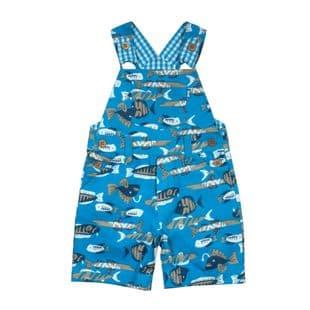 kite bib shorts baby boy ocean blue 3 to 6 months