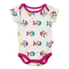 Kite Bodysuit Short Sleeve Baby Girl Fishy Pink