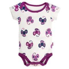 Kite Bodysuit Short Sleeve Baby Girl Mouse Magenta