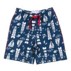 Kite Jersey Knit Shorts Lighthouse French Navy Baby Boy