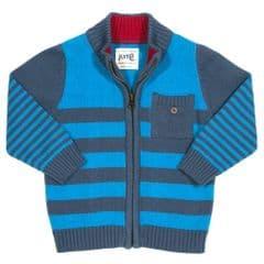 Kite Knitted Cardi Baby Boy blue