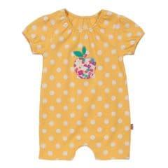 Kite Romper Baby Girl Short Sleeved Apple Spot Primrose 6 to 12 months