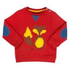 Kite Sweatshirt Baby Boy Foxy Red 6 to 12 months