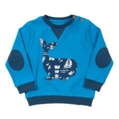 Kite Sweatshirt Baby Boy Whale Blue