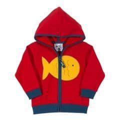 Kite Zip Through Hoody Baby Boy Fishy red