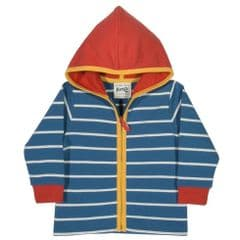 Kite Zip Through Hoody Baby Boy Stripy Navy