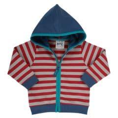 Kite Zip Through Hoody Baby Boy Stripy Red 18 to 24 Months