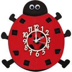 Little Timbers Ladybird Pendulum Clock