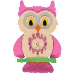Little Timbers Owl Pendulum Clock