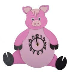 Little Timbers Pig Baby Pendulum Clock