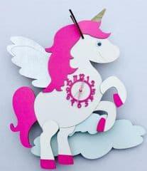 Little Timbers Unicorn Pendulum Clock
