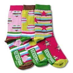 Oddsocks Fiesta - pack of 3 girl's odd socks (not pairs).