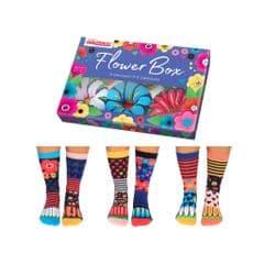 United Oddsocks Flower Box - pack of 6 odd socks (not pairs)