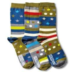 United Oddsocks Fly - pack of 3 boy's odd socks (not pairs).