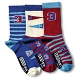 United Oddsocks Varsity - pack of 3 boy's odd socks (not pairs).