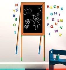 Wallies Chalkboard Easel wall sticker set