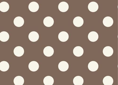 Taupe Dotty Food Safe Wipe Clean Tablecloth
