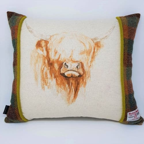 Highland cow country handmade quality cushion cover suitable gift or interior decor