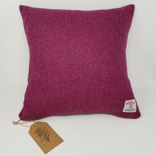 Plain Pink Raspberry wool  cushion cover made with genuine artisan Harris Tweed all sizes available