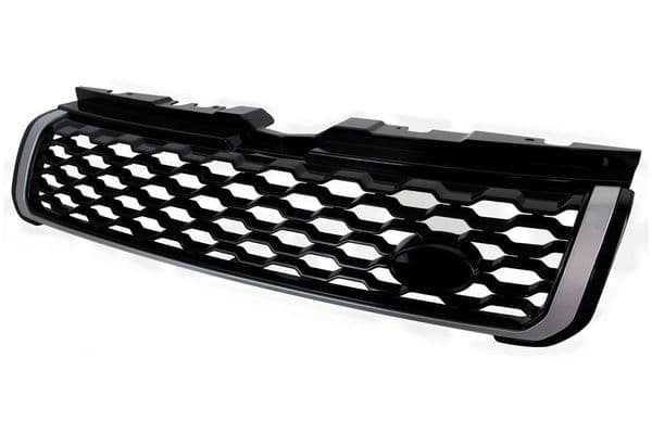 """Evoque """"Facelift Autobiography Style"""" Front Grille - Gloss Black & Silver"""