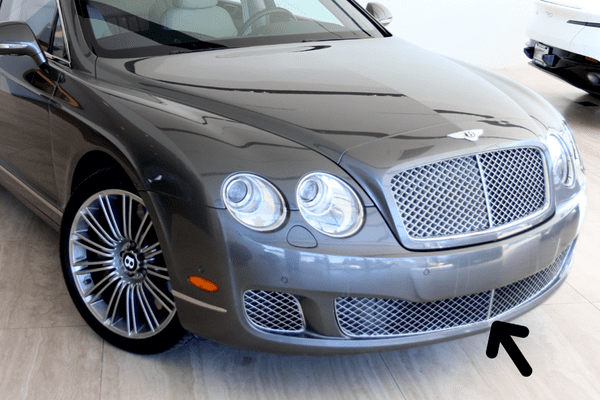 Genuine Bentley Continental Flying Spur 09-12 Lower Grille In Chrome